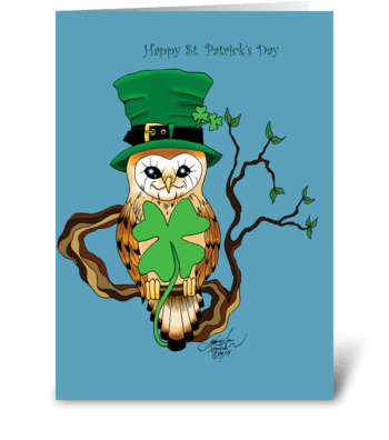 Mr. Irish greeting card