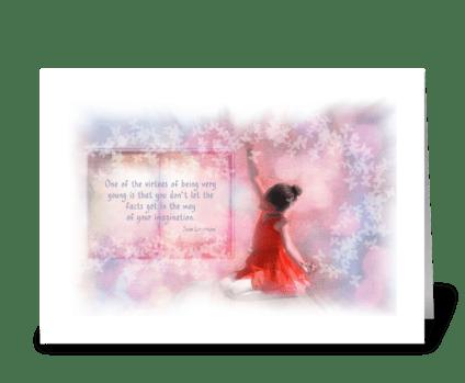 Virtue of childhood greeting card