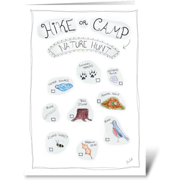 Hike or Camp Nature Hunt greeting card
