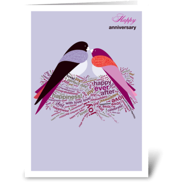 Anniversary Nest greeting card