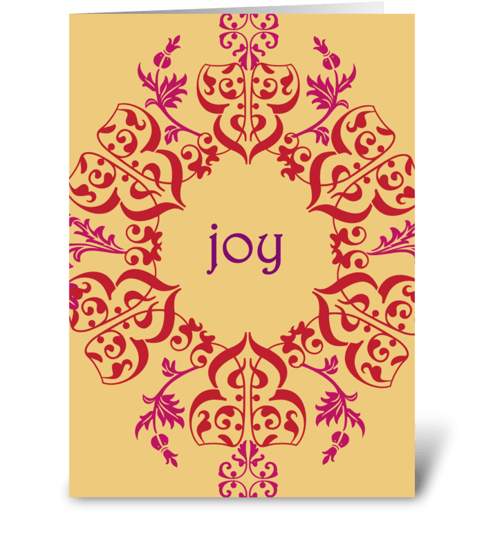 Swirls of Joy greeting card