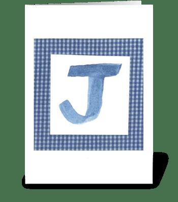 J -Baby Boy greeting card