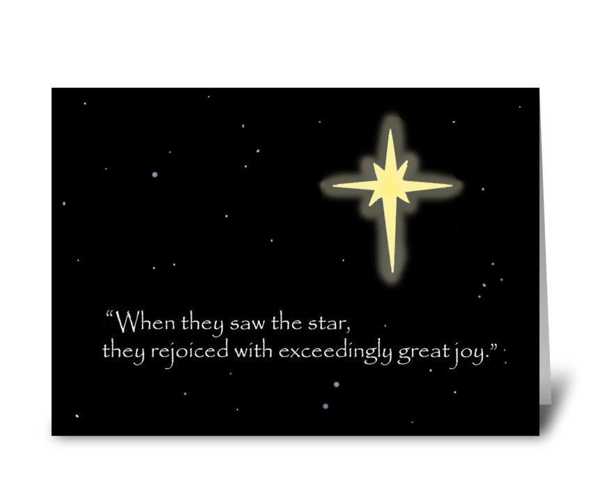 They Rejoiced With Exceedingly Great Joy greeting card