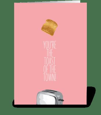 Toast greeting card
