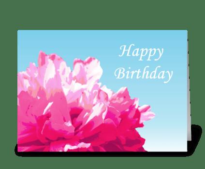Pink Peony Birthday Card greeting card