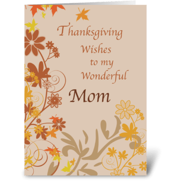 Mother Thanksgiving Wishes greeting card