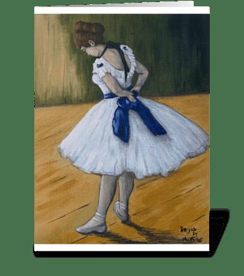 Degas' dancer greeting card