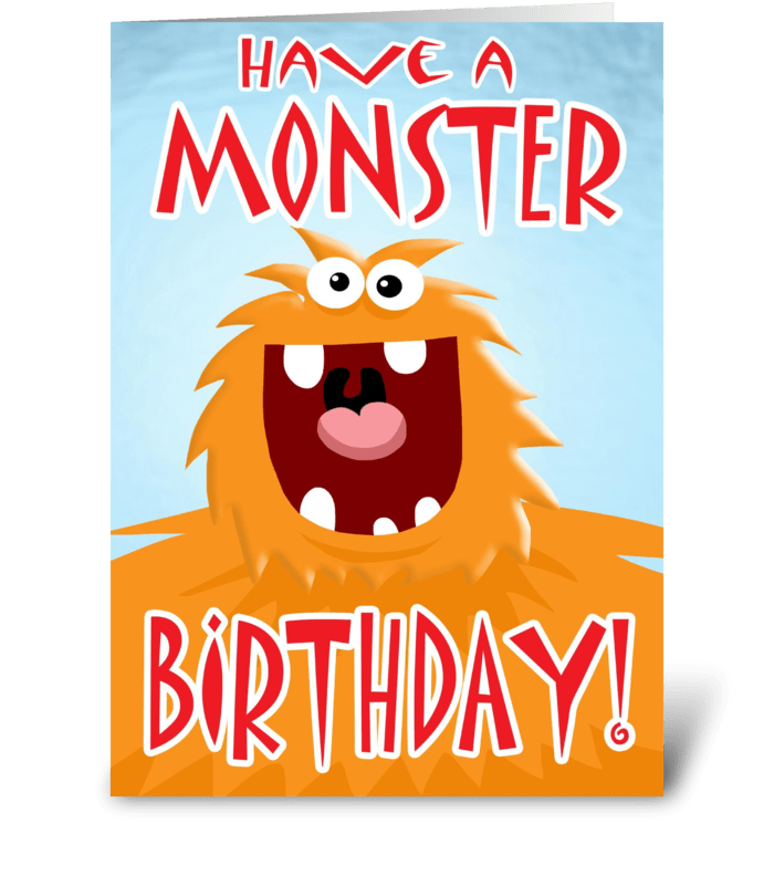 Monster Birthday card greeting card