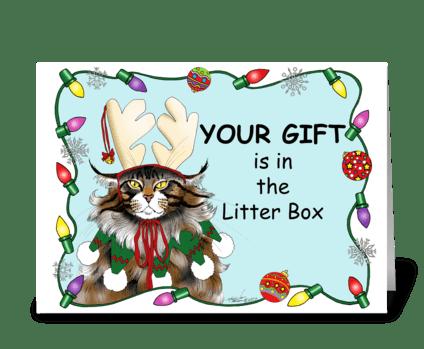 The Christmas Gift greeting card