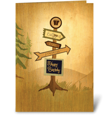 Wilderness Birthday Card greeting card