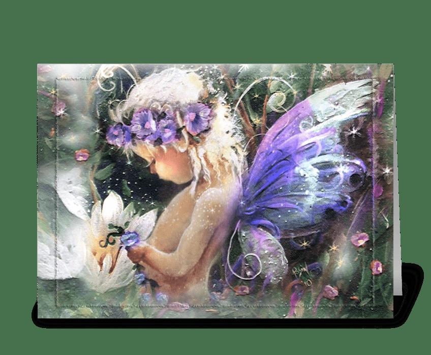 Woodland Fairy ART greeting card