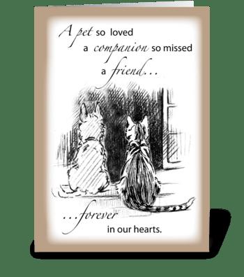 Pet Sympathy, Dog or Cat greeting card