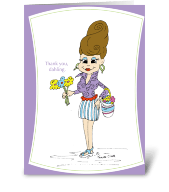 Dahling Dede greeting card