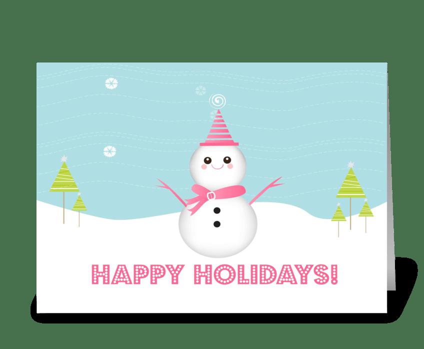 Cute Snowman greeting card