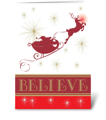 I Believe In Santa greeting card