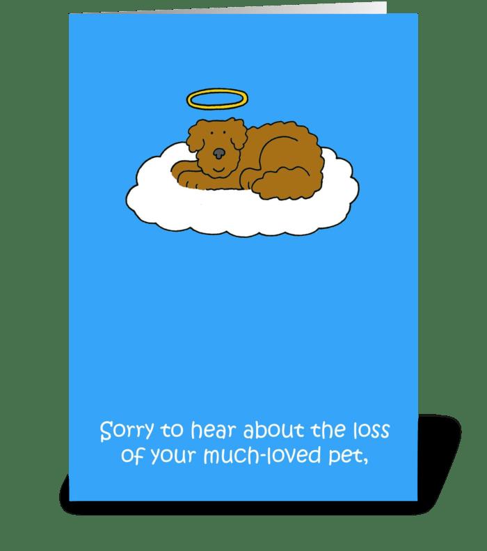 Loss Of Pet >> Loss Of Pet Dog Sympathy