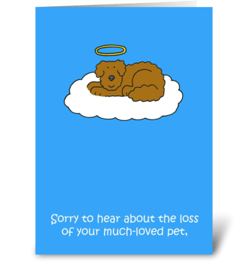 Loss of pet dog, sympathy. greeting card