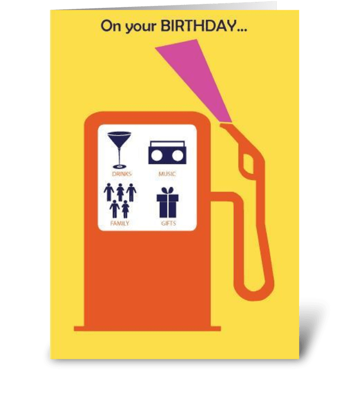 Pumped Up Birthday greeting card