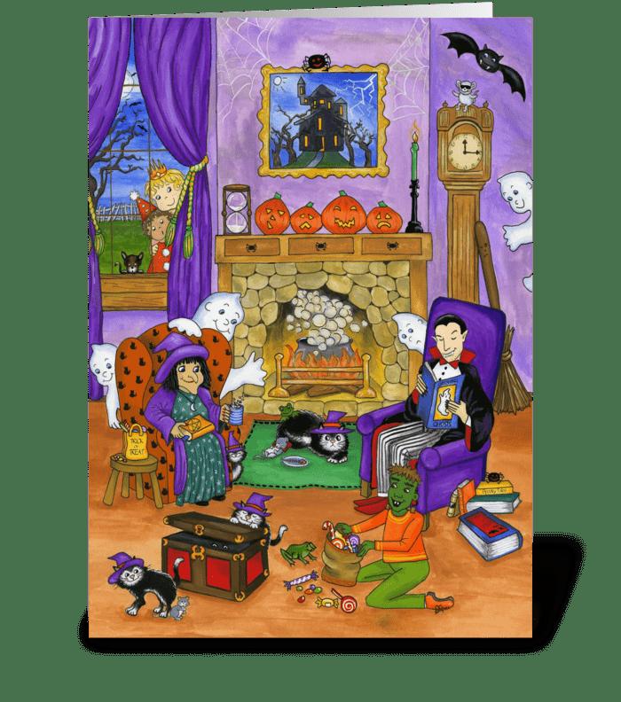 Halloween Eve greeting card