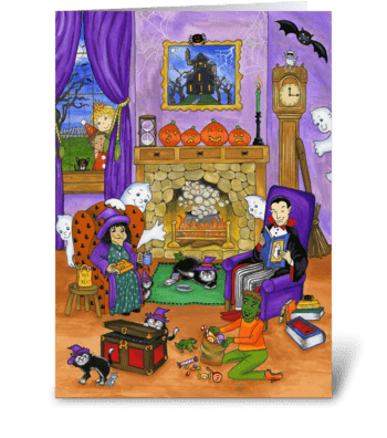 Halloween Eve greeting card