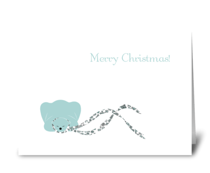 Sleeping Polar Bear greeting card