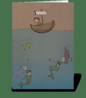 Mermaids greeting card