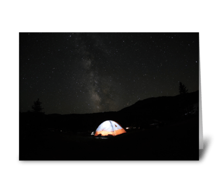Camping Under The Milky Way greeting card