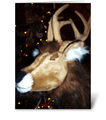 Reindeer Imposter greeting card