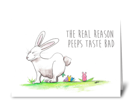 Bunny Peeps greeting card