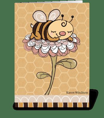 Bumble of Joy greeting card