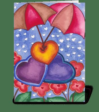 love umbrellas greeting card