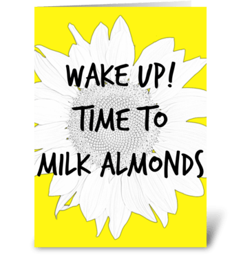Vegan Almonds greeting card