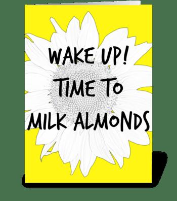 Vegan Almonds greeting card
