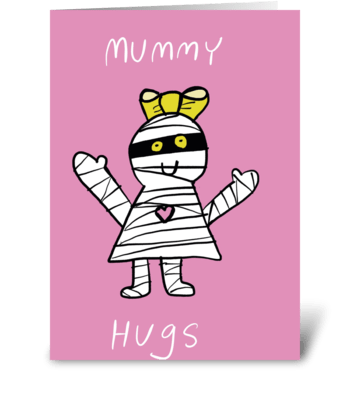 Mummy hugs greeting card