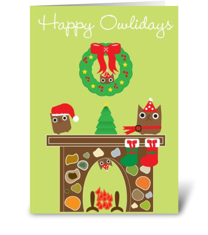 Happy Owlidays! greeting card