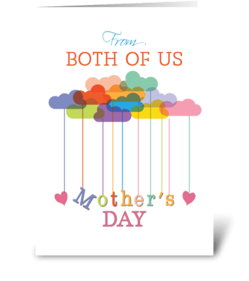 Both of us, Cute Mother's Day Rainbow greeting card