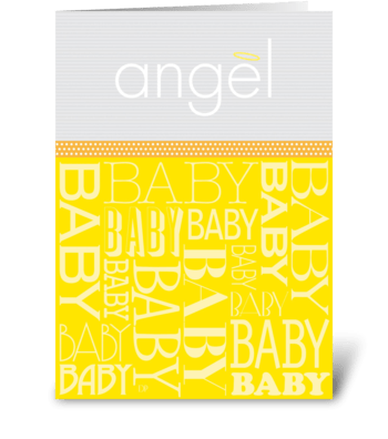 Baby Angel greeting card