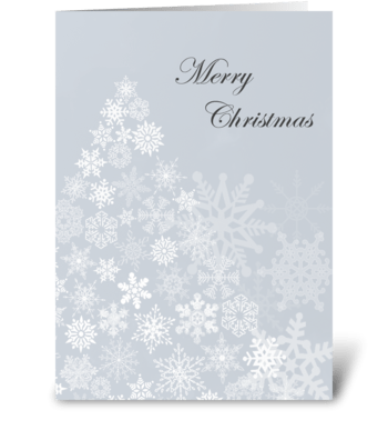 Snowflake Tree greeting card