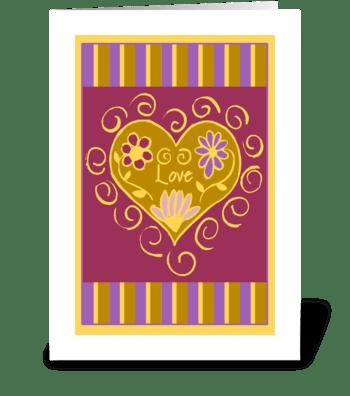 Love Heart greeting card