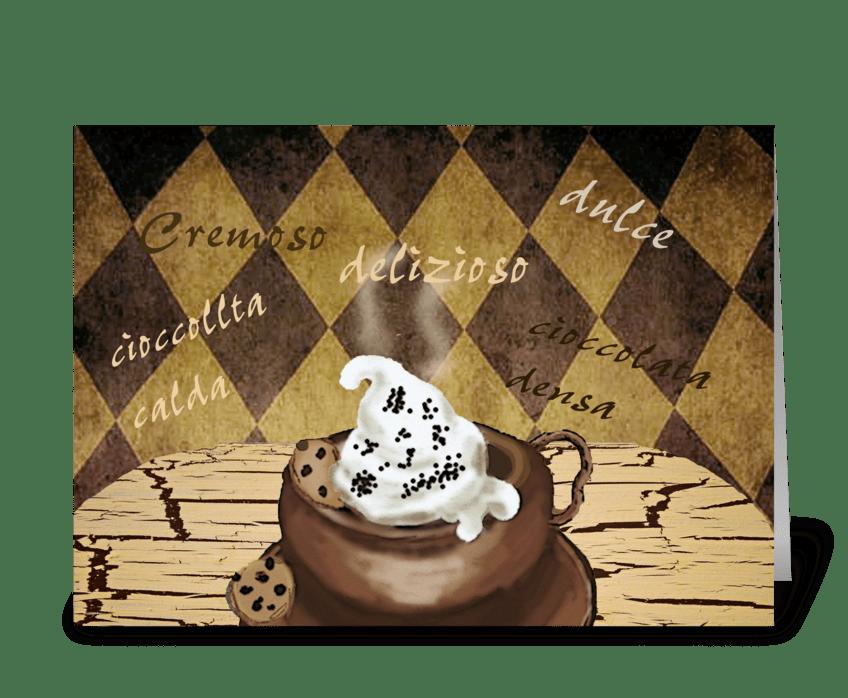 Cacao Amori greeting card
