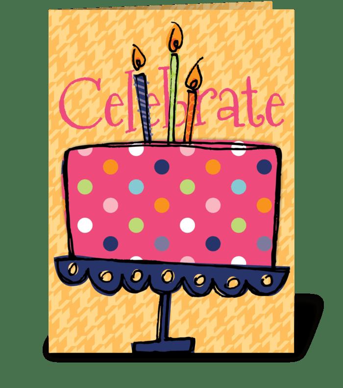 Celebrate Cake greeting card