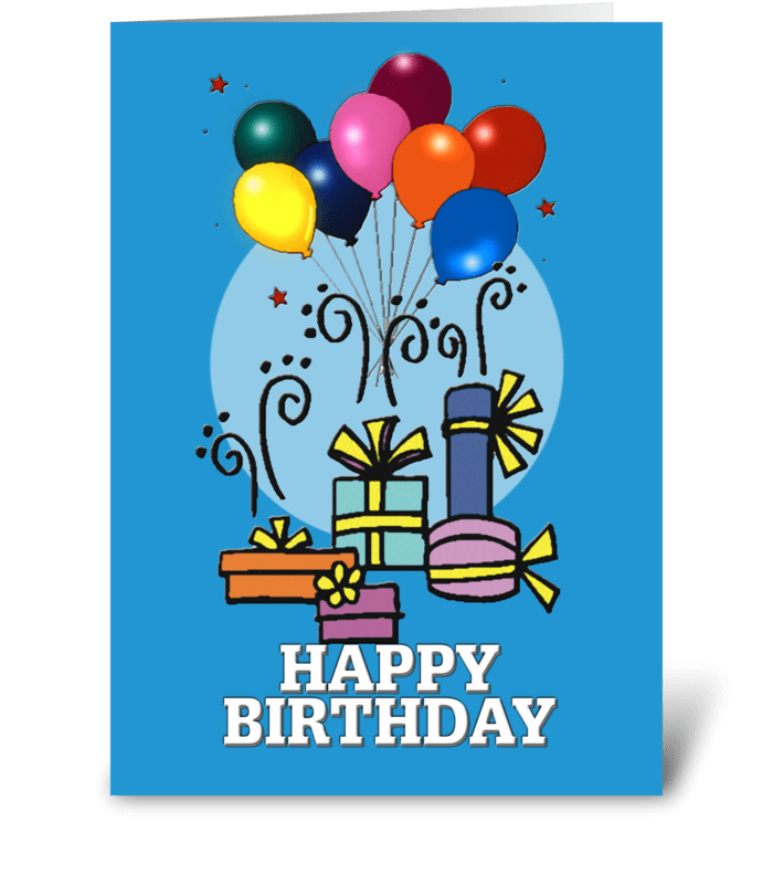 Balloons, Happy Birthday CARD greeting card
