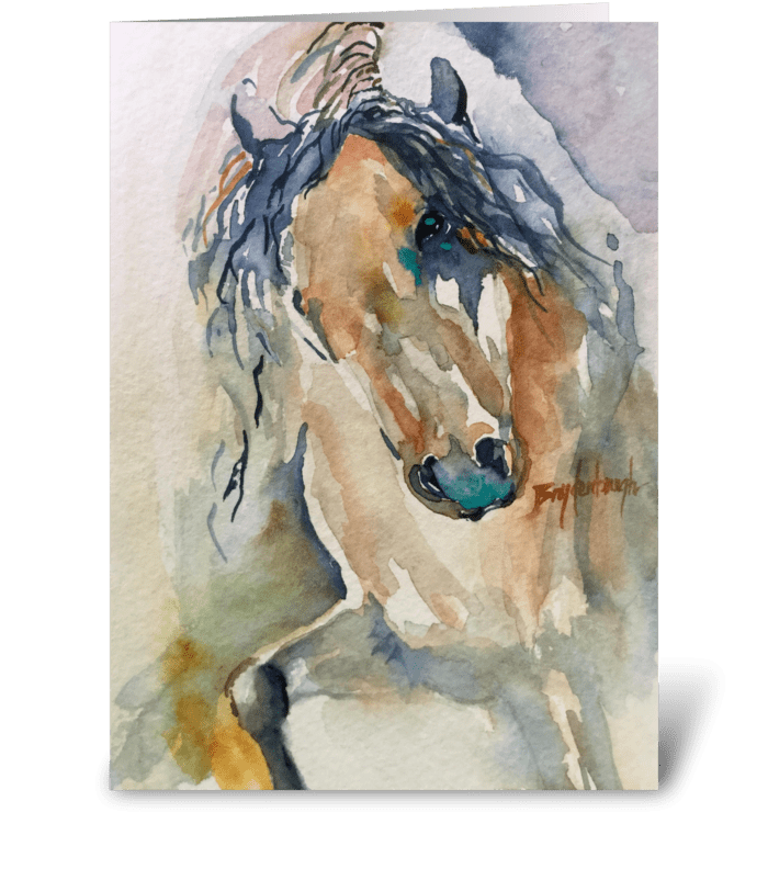 Arapaho Spirit Horse greeting card