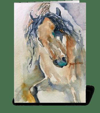 Arapaho Spirit Horse greeting card