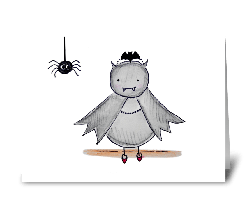 Bat Princess greeting card