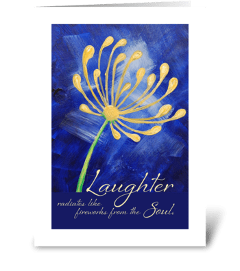 Laughter, blank greeting card greeting card