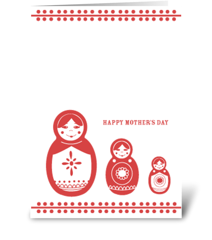 Mothers Day Nesting Dolls greeting card
