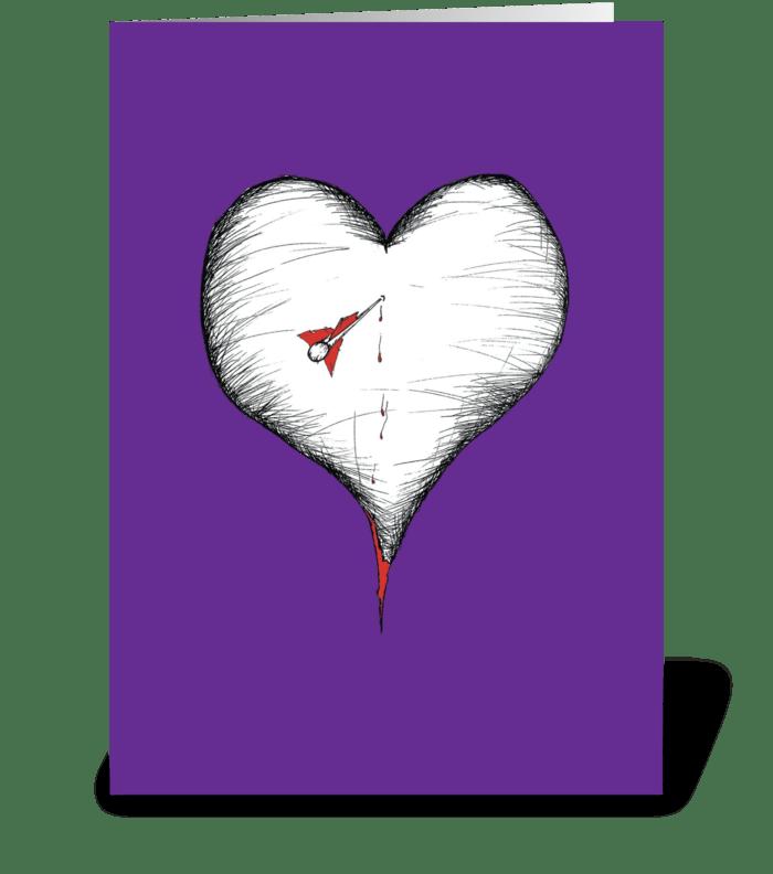 Shot through the heart greeting card