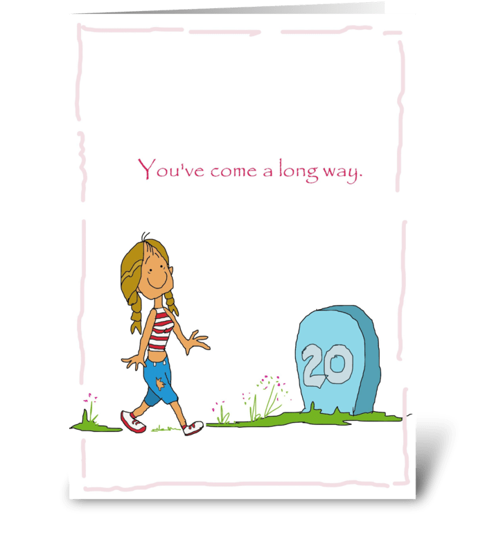 Long way greeting card