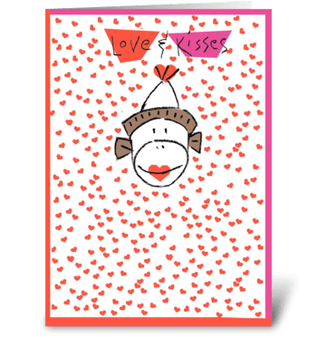 Love & Kisses greeting card